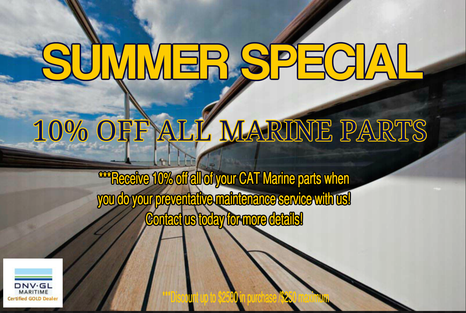 Marine Summer Parts Special Website AD